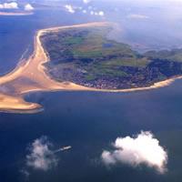 luchtfoto Duitse eiland Borkum